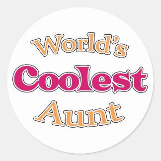 Cool Aunt Round Sticker