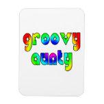 Cool Aunts Christmas & Birthdays : Groovy Aunty Rectangular Magnets