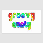 Cool Aunts Christmas & Birthdays : Groovy Aunty Rectangle Stickers