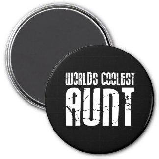 Cool Aunty Aunts Aunties : Worlds Coolest Aunt Fridge Magnet