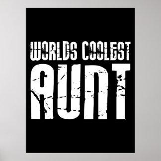Cool Aunty Aunts Aunties Worlds Coolest Aunt Print