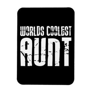 Cool Aunty Aunts Aunties : Worlds Coolest Aunt Vinyl Magnet