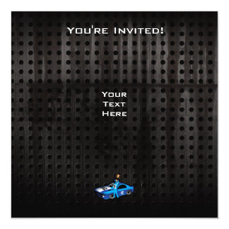 Cool Auto Racing 13 Cm X 13 Cm Square Invitation Card