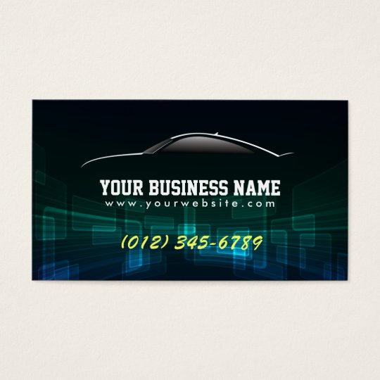 Cool Auto Trade Black business card