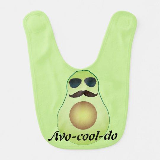 Cool avocado baby bib