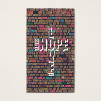 Cool awesome Faith Love Hope graffiti words Business Card