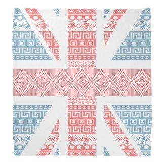 Cool awesome trendy Aztec U.K.Union Jack Flag Bandana