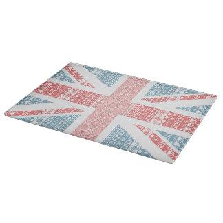 Cool awesome trendy Aztec U.K.Union Jack Flag Cutting Board