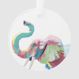 Cool awesome trendy colorful vibrant elephant ornament