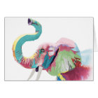 Cool awesome trendy colourful vibrant elephant card