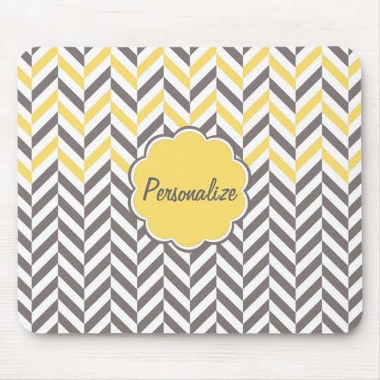 Cool awesome trendy herringbone zigzag pattern mouse mat