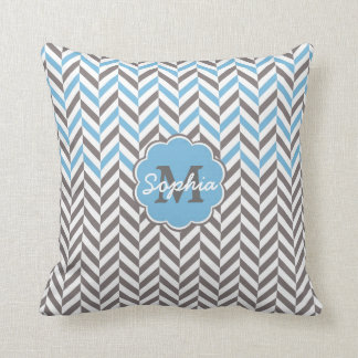 Cool awesome trendy monogram herringbone zigzag cushion