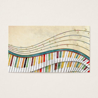 Cool awesome wavy piano retro colours antique