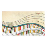 Cool awesome wavy piano retro colours antique pack of standard business cards