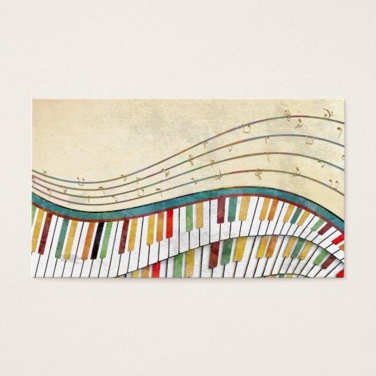 Cool awesome wavy piano retro colours antique business