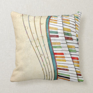 Cool awesome wavy piano retro colours antique cushion