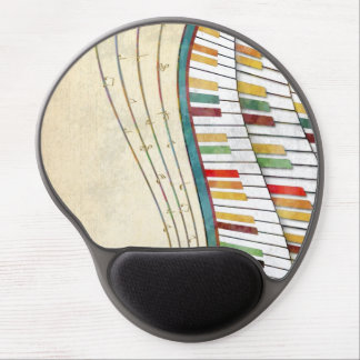 Cool awesome wavy piano retro colours antique gel mouse pad