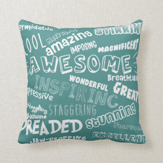 Cool Awesome Words Cushion