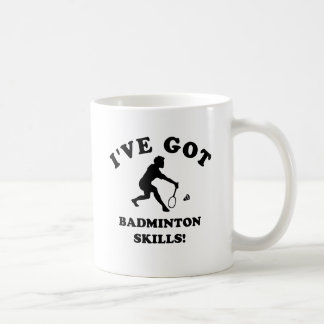 cool badminton designs basic white mug