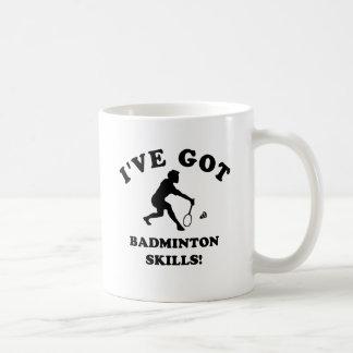 cool badminton designs coffee mug