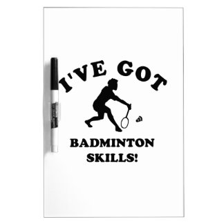cool badminton designs dry erase board