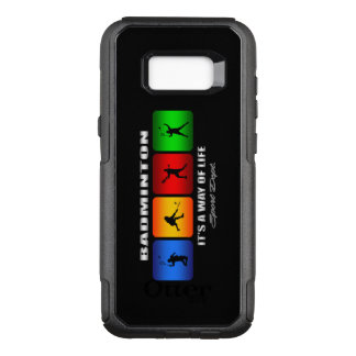 Cool Badminton It Is A Way Of Life OtterBox Commuter Samsung Galaxy S8+ Case