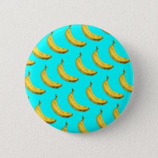 Cool banana 6 cm round badge