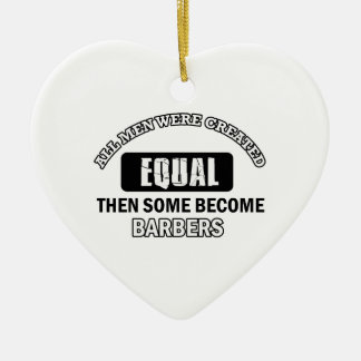 Cool Barbers designs Christmas Ornament