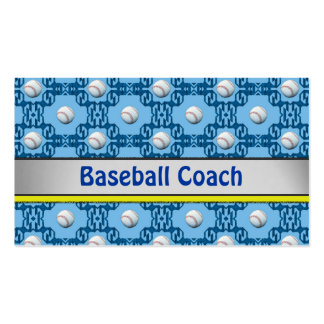 Cool Baseball Coach Business Card