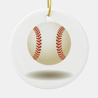 Cool Baseball Emblem Christmas Ornament