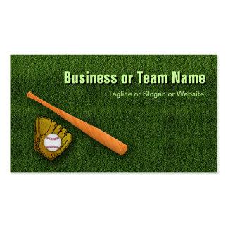 Cool Baseball Equipment  - Baseball Bat Gloves Business Card Template
