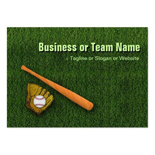 Cool Baseball Equipment  - Baseball Bat Gloves Business Card