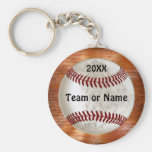 Cool Baseball Gifts for Players TEAM NAME and YEAR Basic Round Button Key Ring
