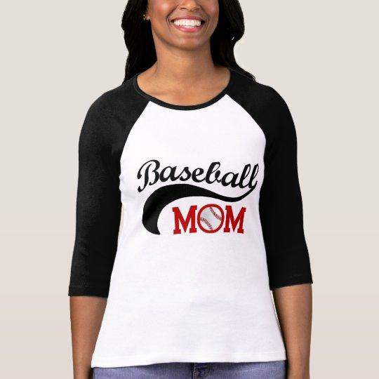 Cool Baseball Mum Sporty Mother's Day T-Shirt