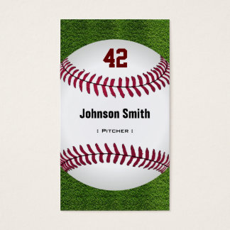 Cool Baseball Number - Coach Player Trainer Staff Business Card