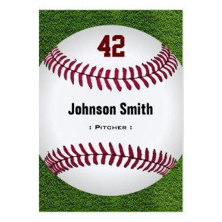 Cool Baseball Number - Coach Player Trainer Staff Large Business Cards (Pack Of 100)
