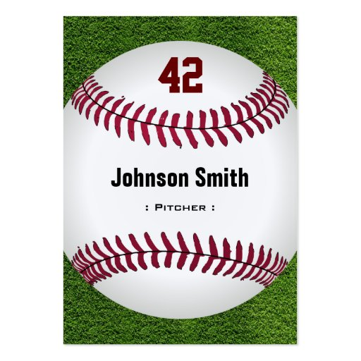 Cool Baseball Number - Coach Player Trainer Staff Business Cards