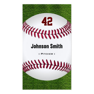 Cool Baseball Number - Coach Player Trainer Staff Pack Of Standard Business Cards