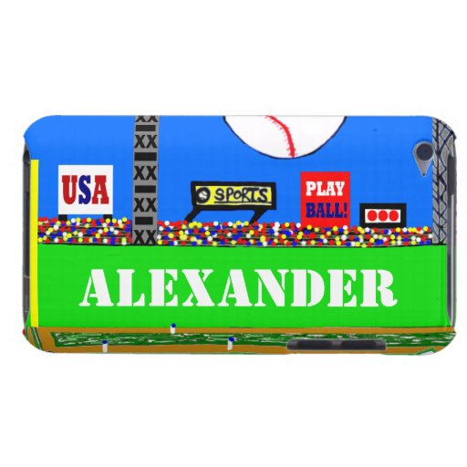 Cool Baseball Personalized iPod Touch Case Gift