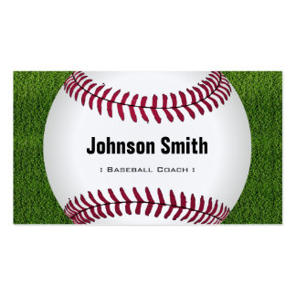 Cool Baseball Softball Coach Player Trainer Staff Pack Of Standard Business Cards