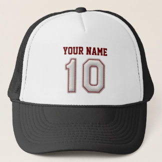 Cool Baseball Stitches - Custom Name and Number 10 Trucker Hat