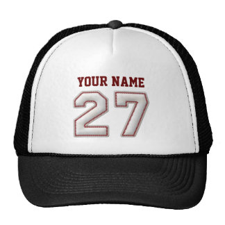 Cool Baseball Stitches - Custom Name and Number 27 Cap