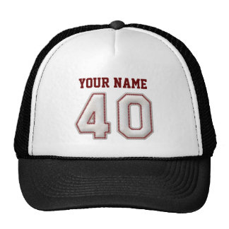 Cool Baseball Stitches - Custom Name and Number 40 Cap