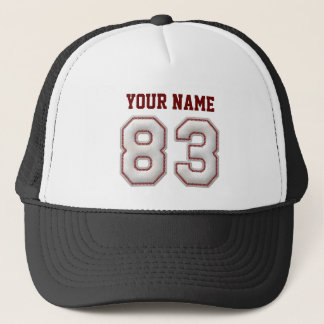 Cool Baseball Stitches - Custom Name and Number 83 Trucker Hat