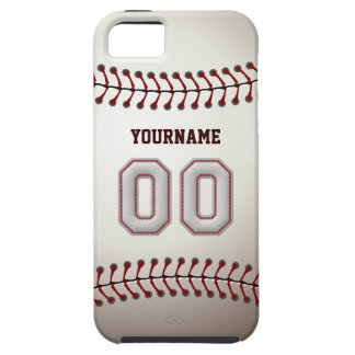 Cool Baseball Stitches - Custom Number 00 and Name iPhone 5 Case