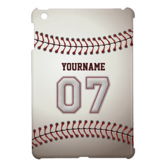 Cool Baseball Stitches - Custom Number 07 and Name Cover For The iPad Mini