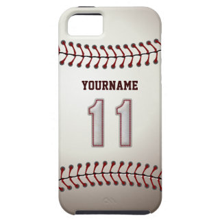 Cool Baseball Stitches - Custom Number 11 and Name Case For The iPhone 5