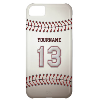 Cool Baseball Stitches - Custom Number 13 and Name iPhone 5C Case