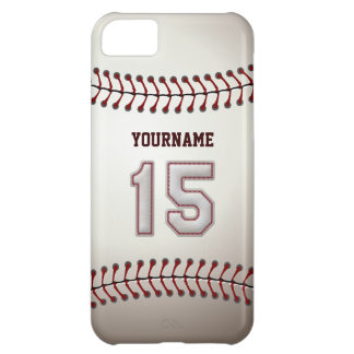 Cool Baseball Stitches - Custom Number 15 and Name iPhone 5C Case