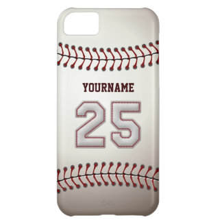 Cool Baseball Stitches - Custom Number 25 and Name iPhone 5C Case